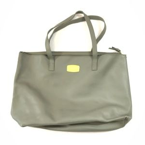 Joy Mangano Gray/Green Tote Bag
